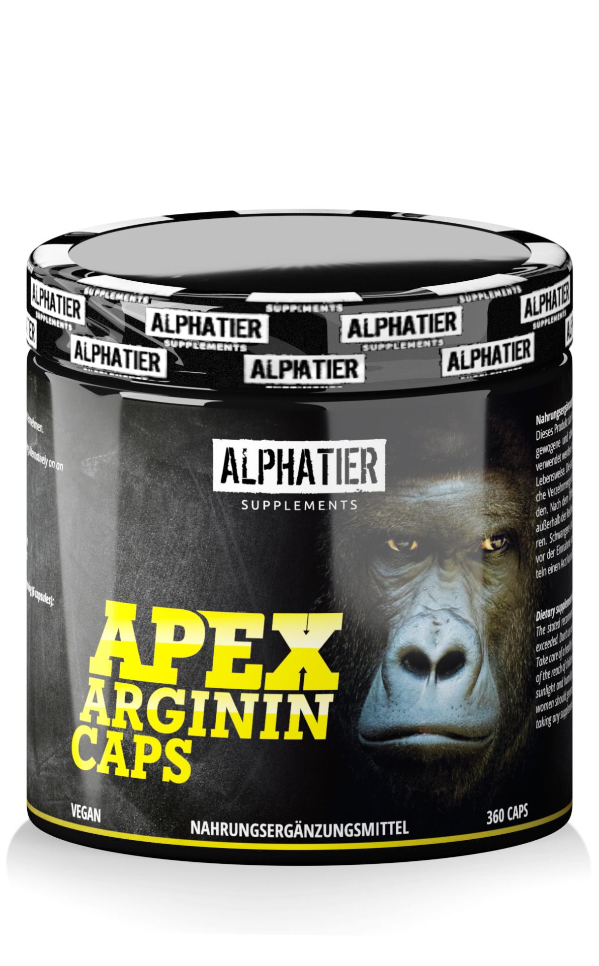Alphatier Apex Arginin - L-Arginin Base Kapseln