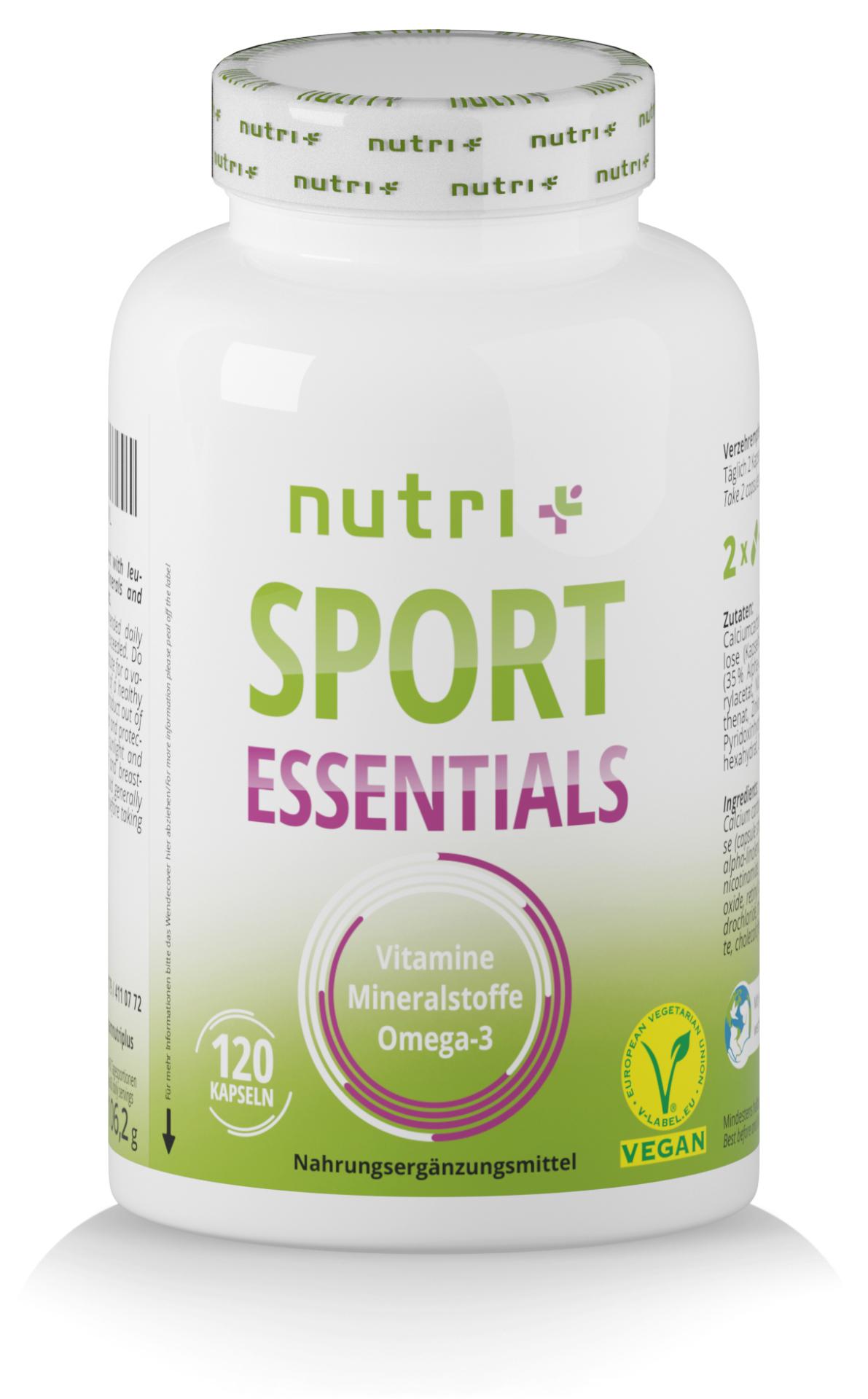 nutri+ Sport Essentials - Vitalstoffe für Sportler