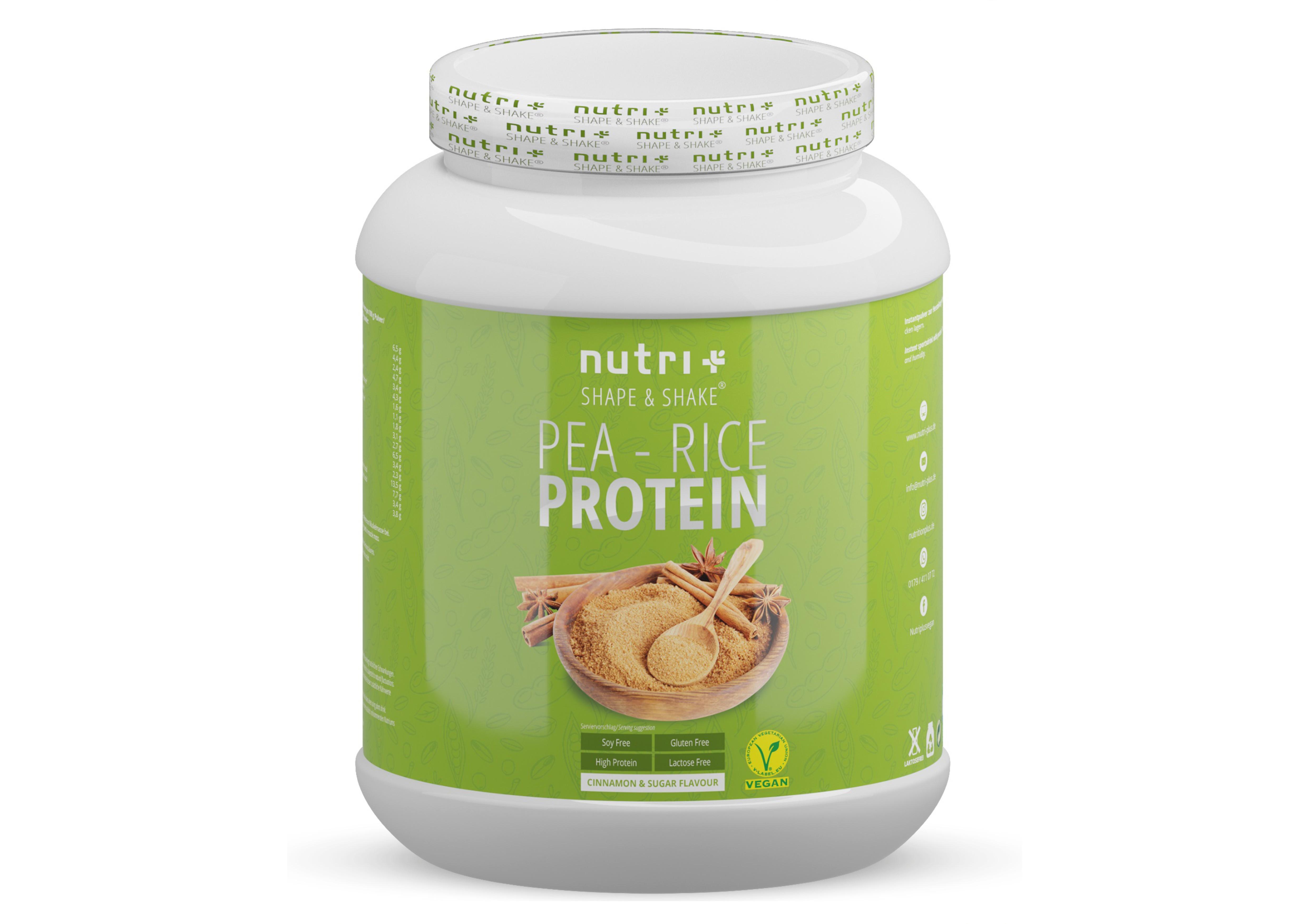 nutri+ Vegan Pea-Rice Proteinpulver