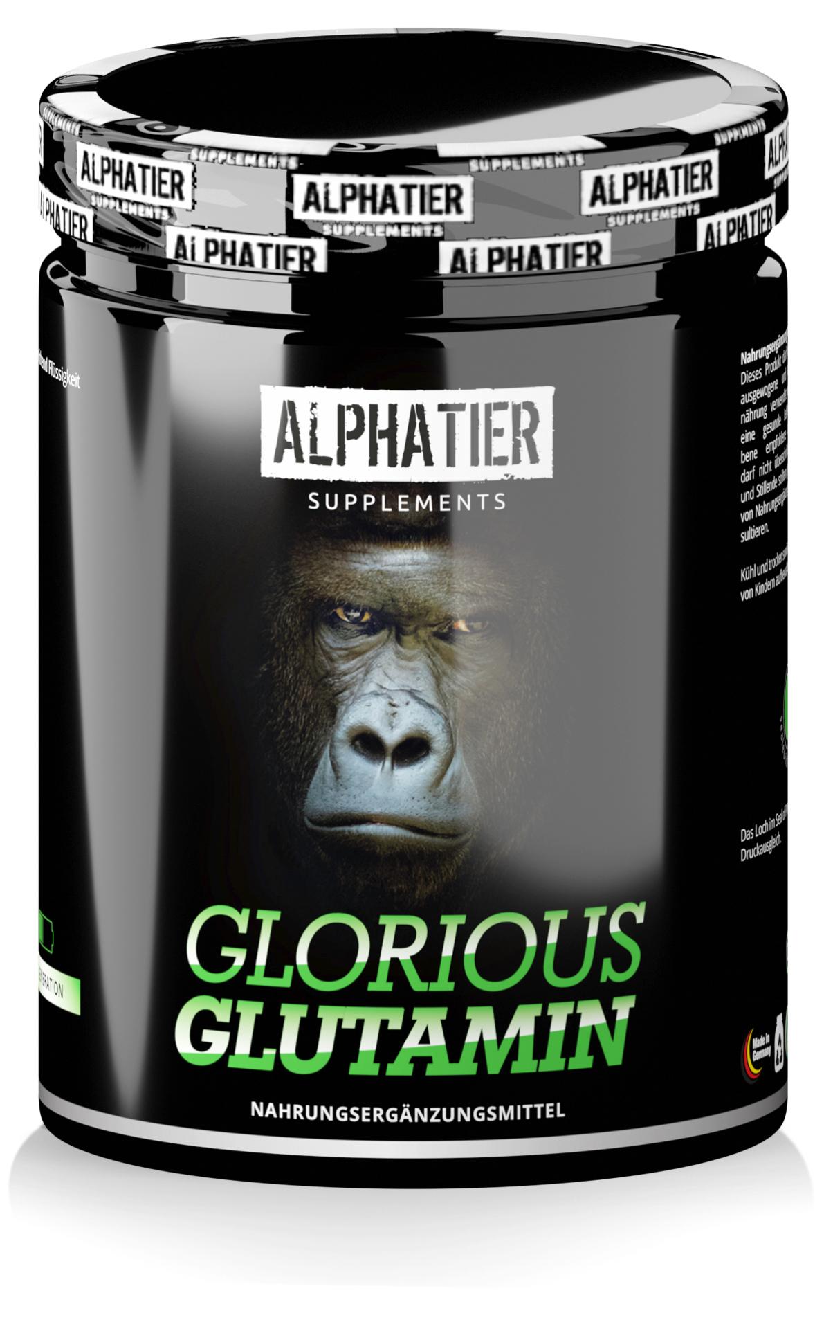 Alphatier  Glorious Glutamin - L-Glutamin Pulver