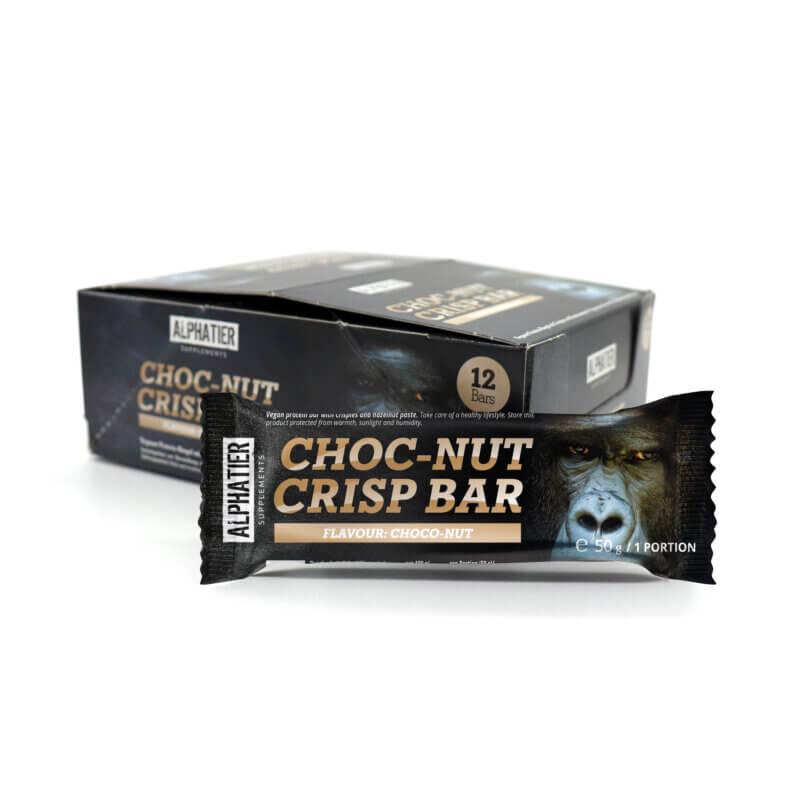 Alphatier Choc-Nut Crisp Bar - Alphatier Supplements 12x50g