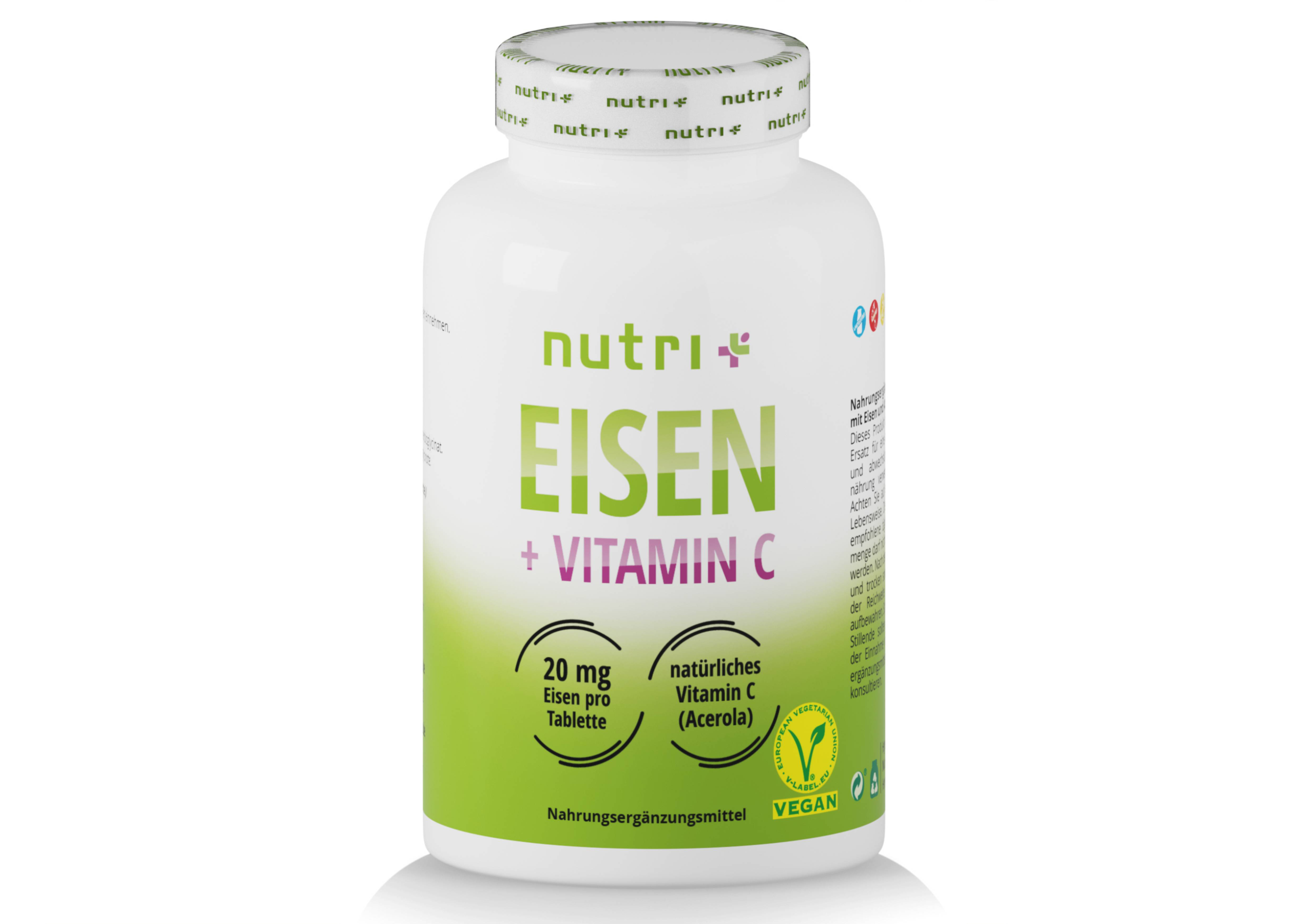 nutri+ Eisen Tabletten + Vitamin C