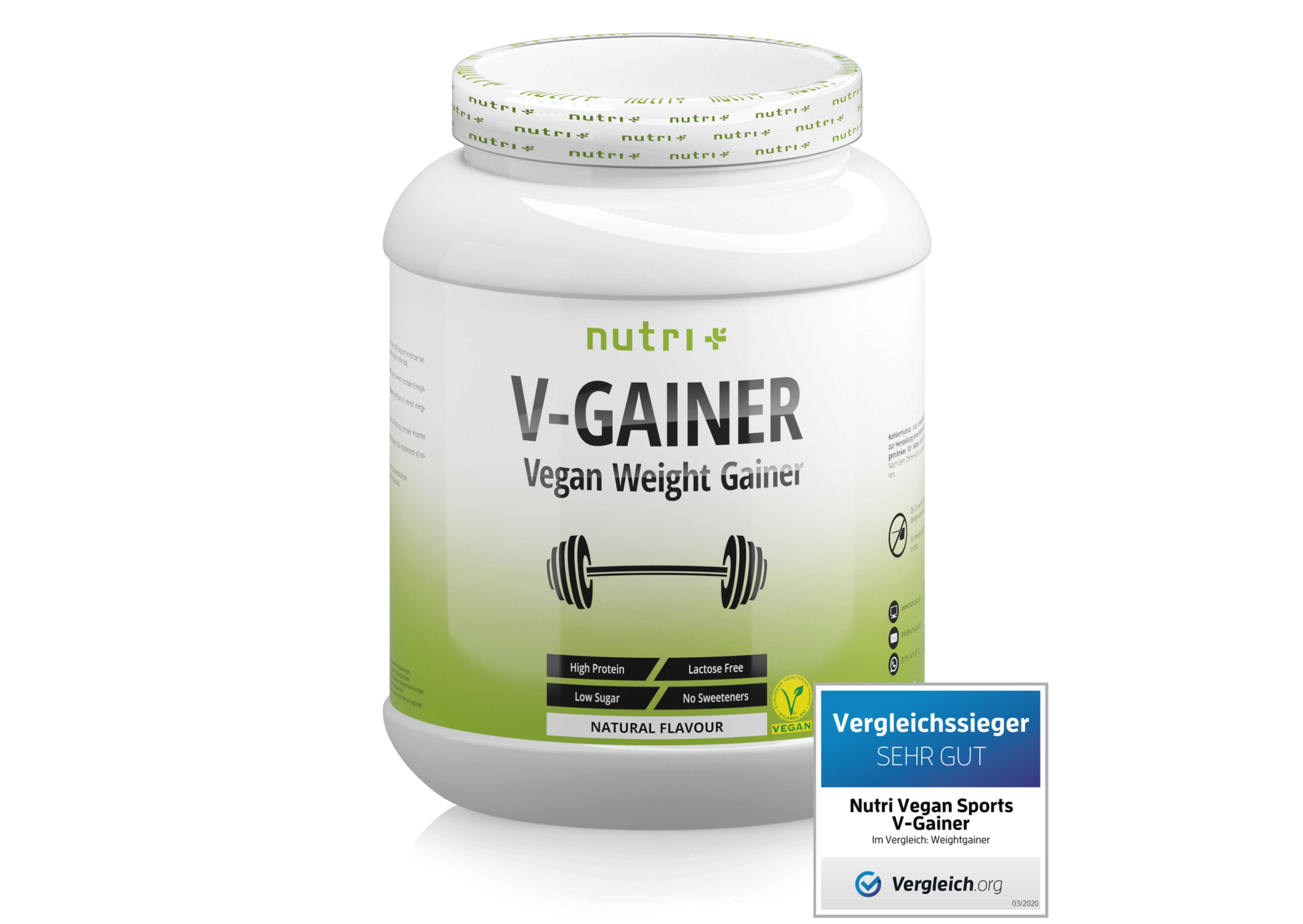 nutri+ V-Gainer - Vegan Weight & Mass Gainer