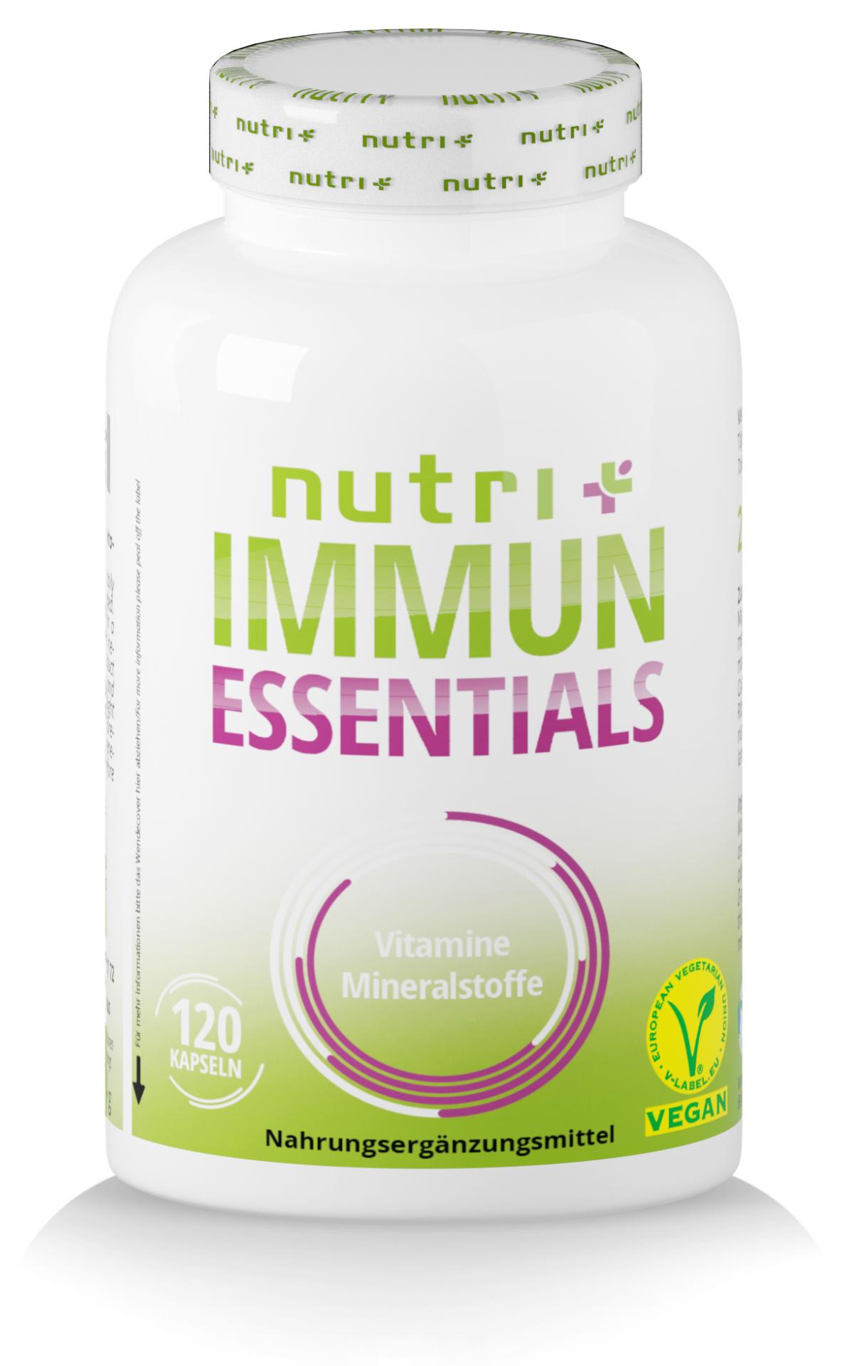 nutri+ Immun Essentials - Vitalstoffe für Abwehr