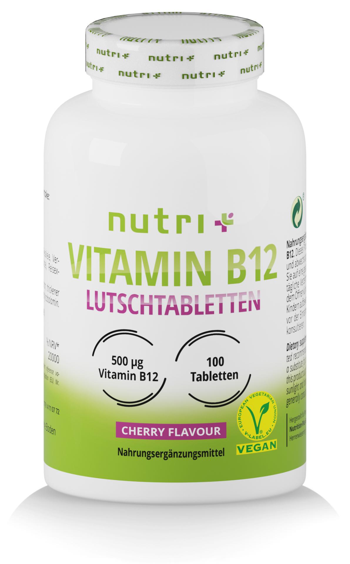 nutri+ Vitamin B12 Lutschtabletten