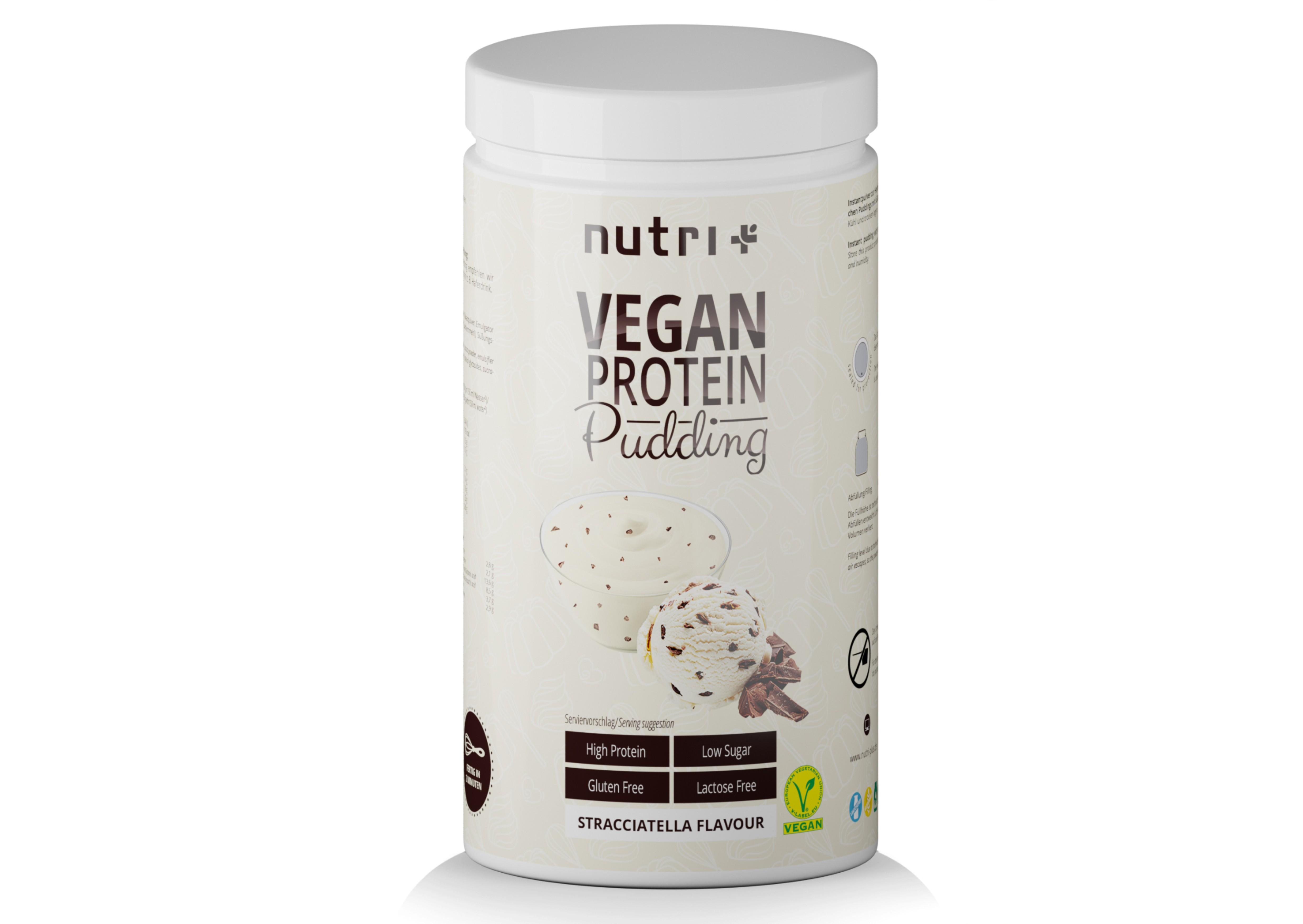 nutri+ Protein-Pudding Vegan - ohne Laktose