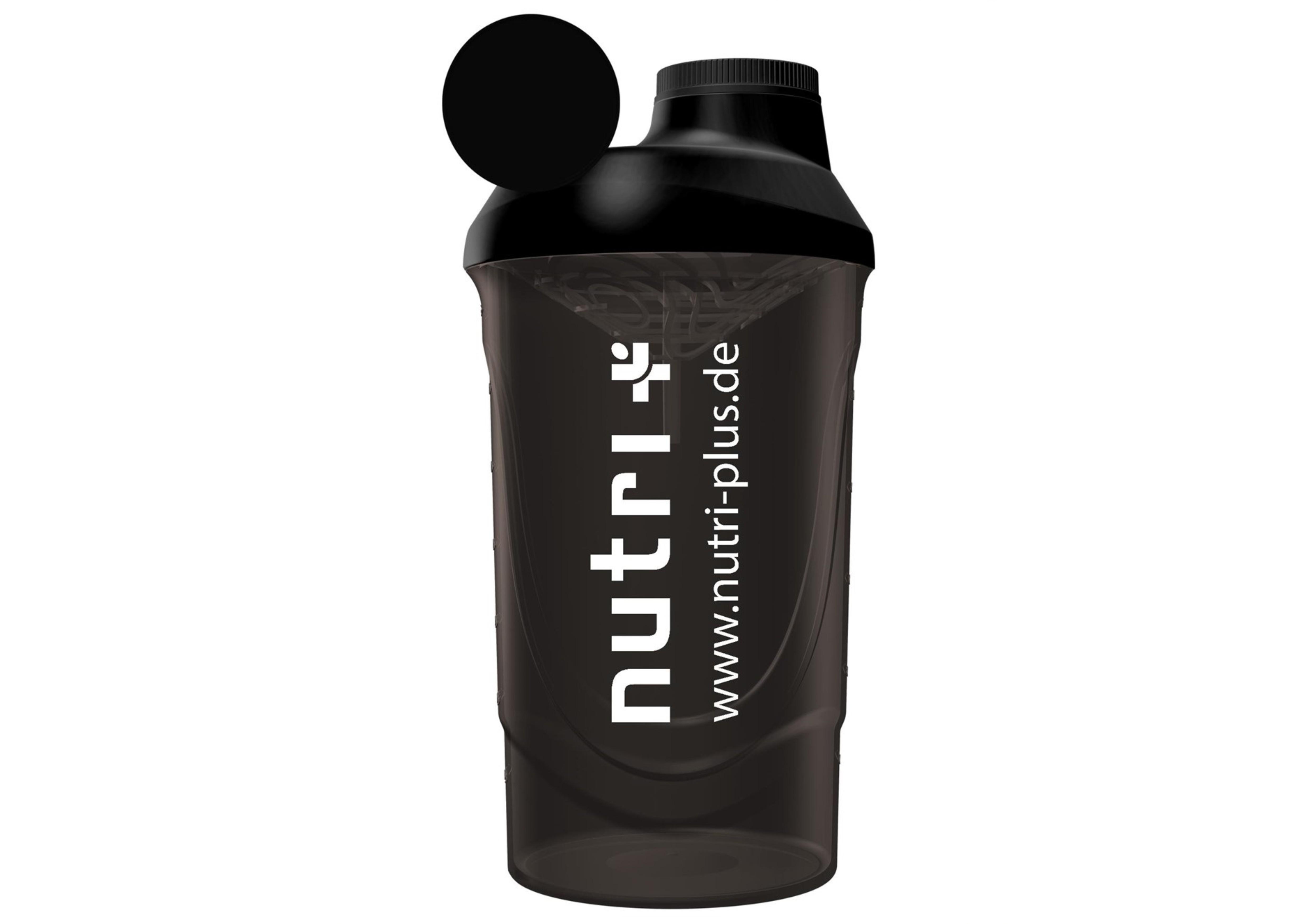 nutri+ Eiweiß + Fitness Shaker (black-smoked)
