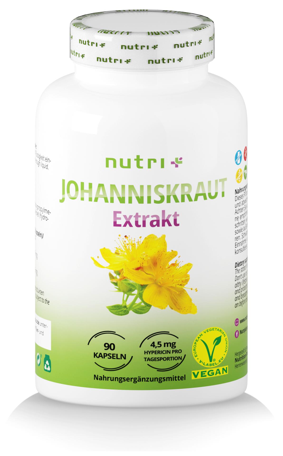 nutri+ Johanniskraut Extrakt Kapseln