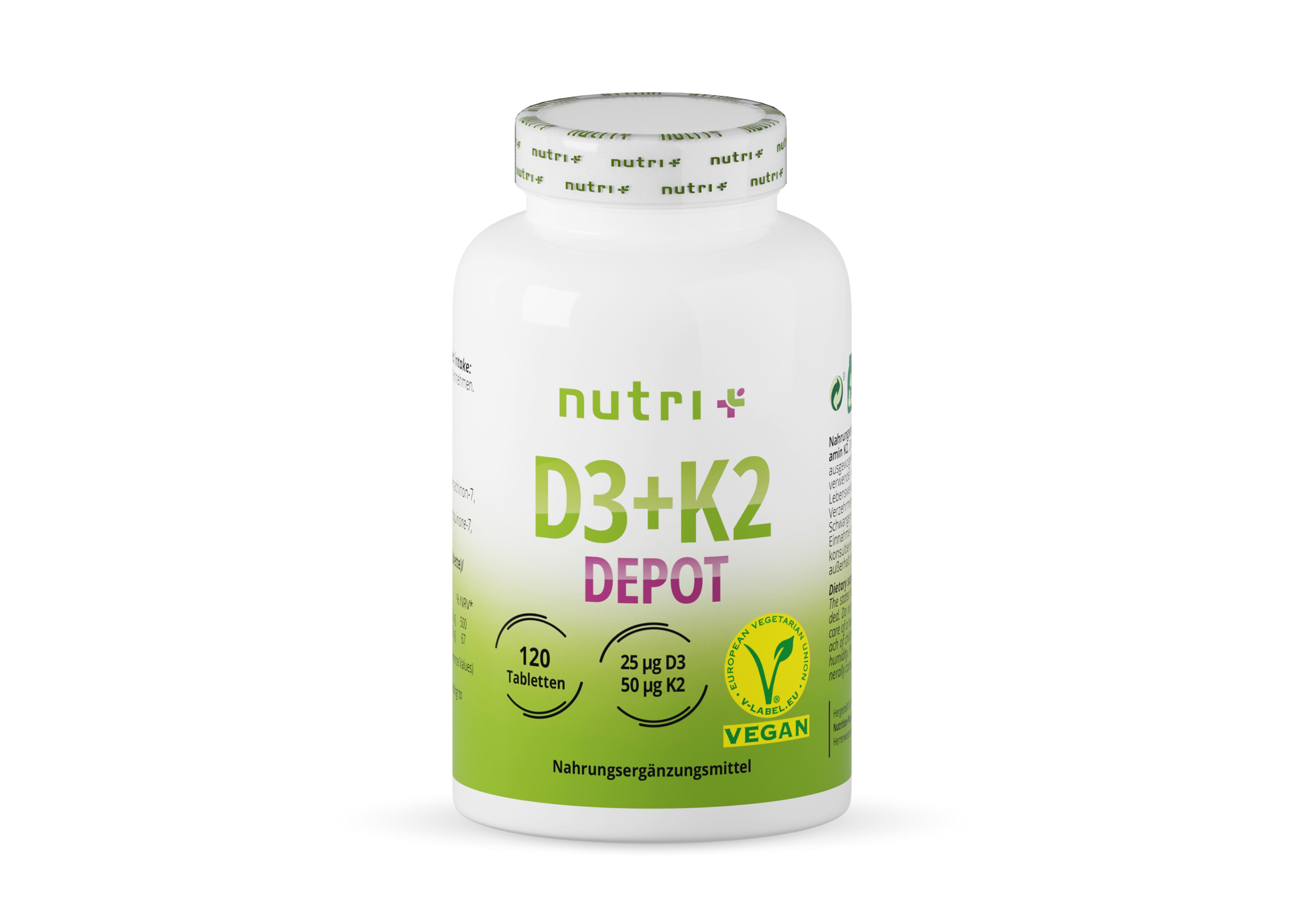 nutri+ D3 + K2 Depot - Vitamin-Tabletten