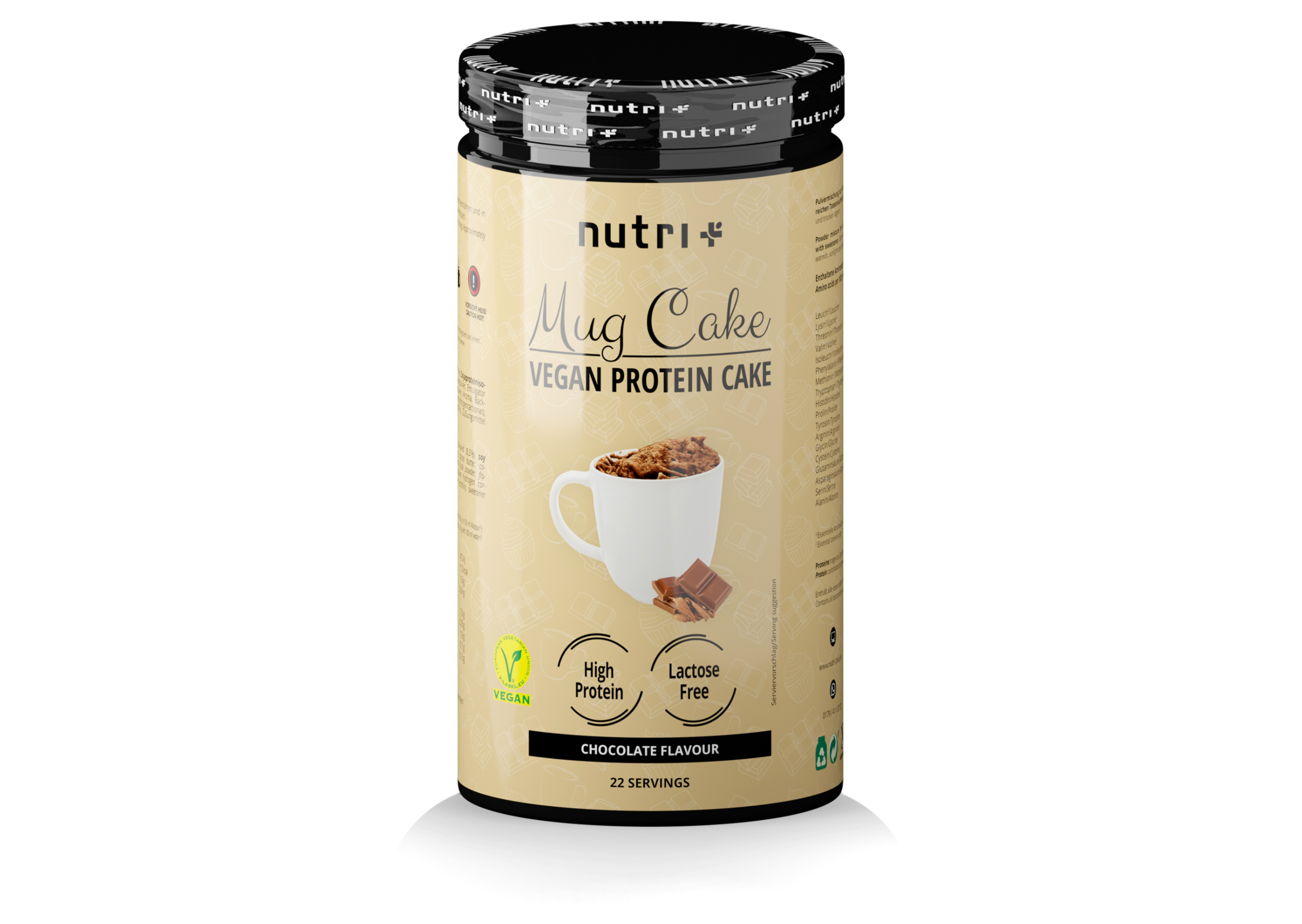 nutri+ Mug Cake - Vegan Protein-Tassenkuchen