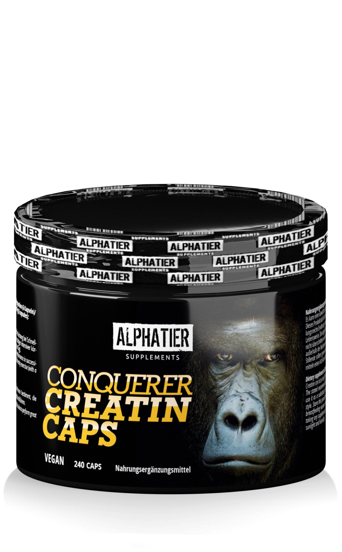 Alphatier Conquerer Creatin-Monohydrat (Creapure®) Caps