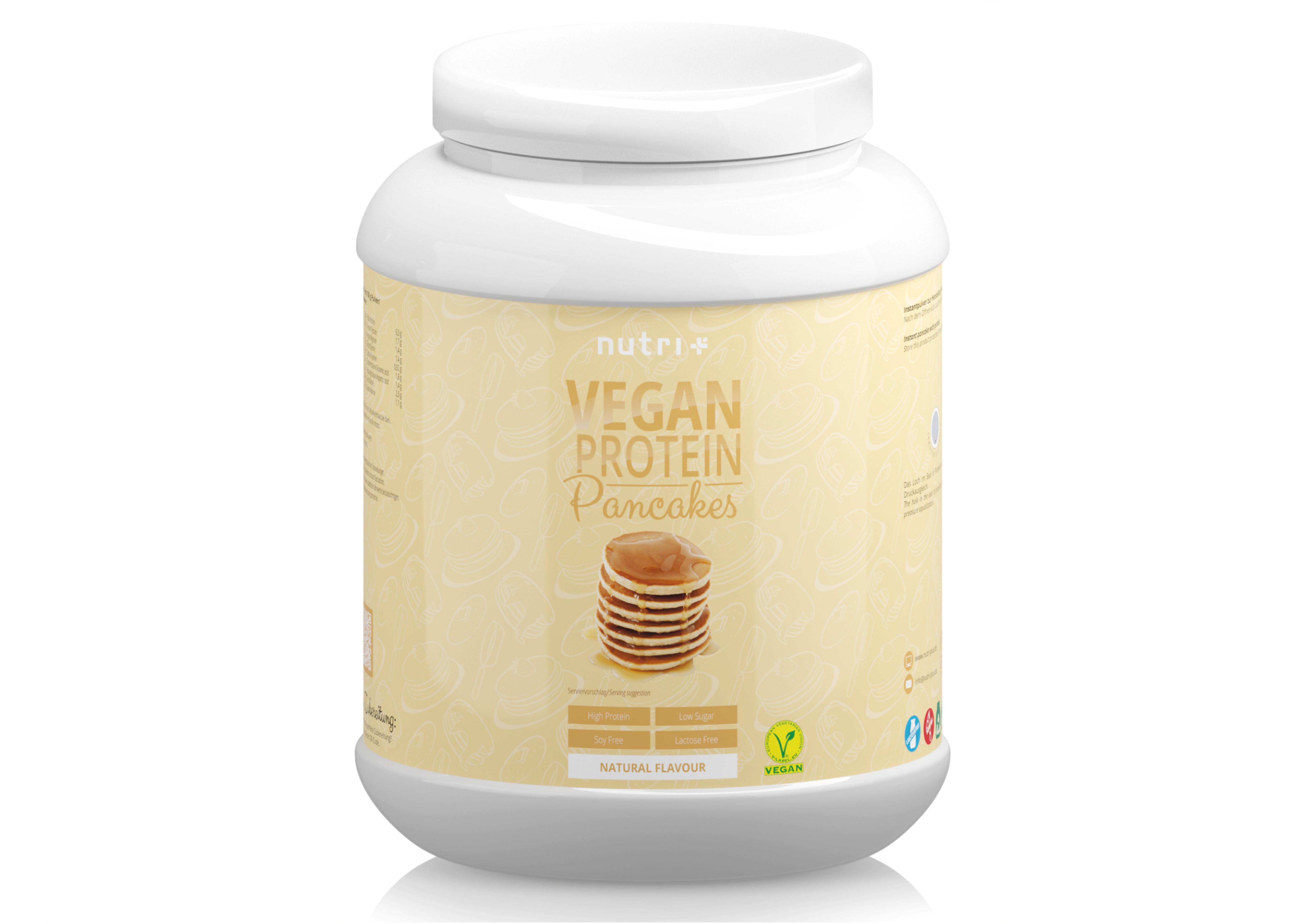 nutri+ Protein-Pancakes Vegan - ohne Laktose