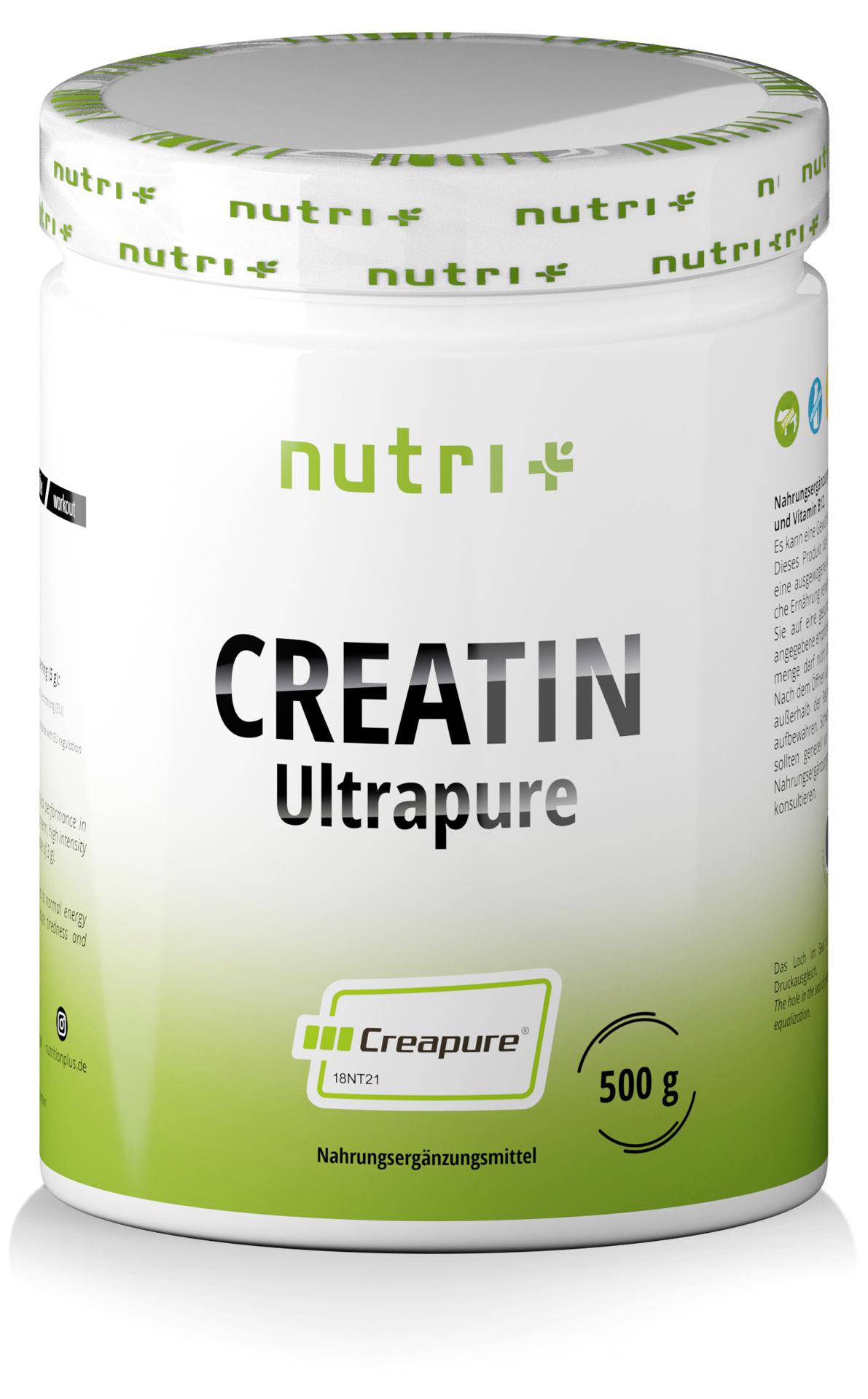 nutri+ Creatin Ultrapure Pulver (Creapure®)