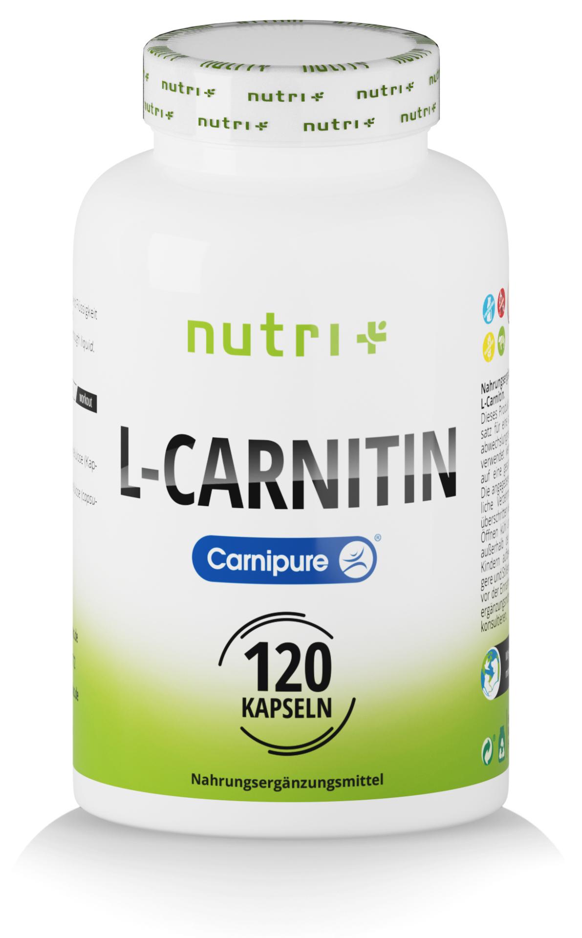 nutri+ L-Carnitin Kapseln (Carnipure®)