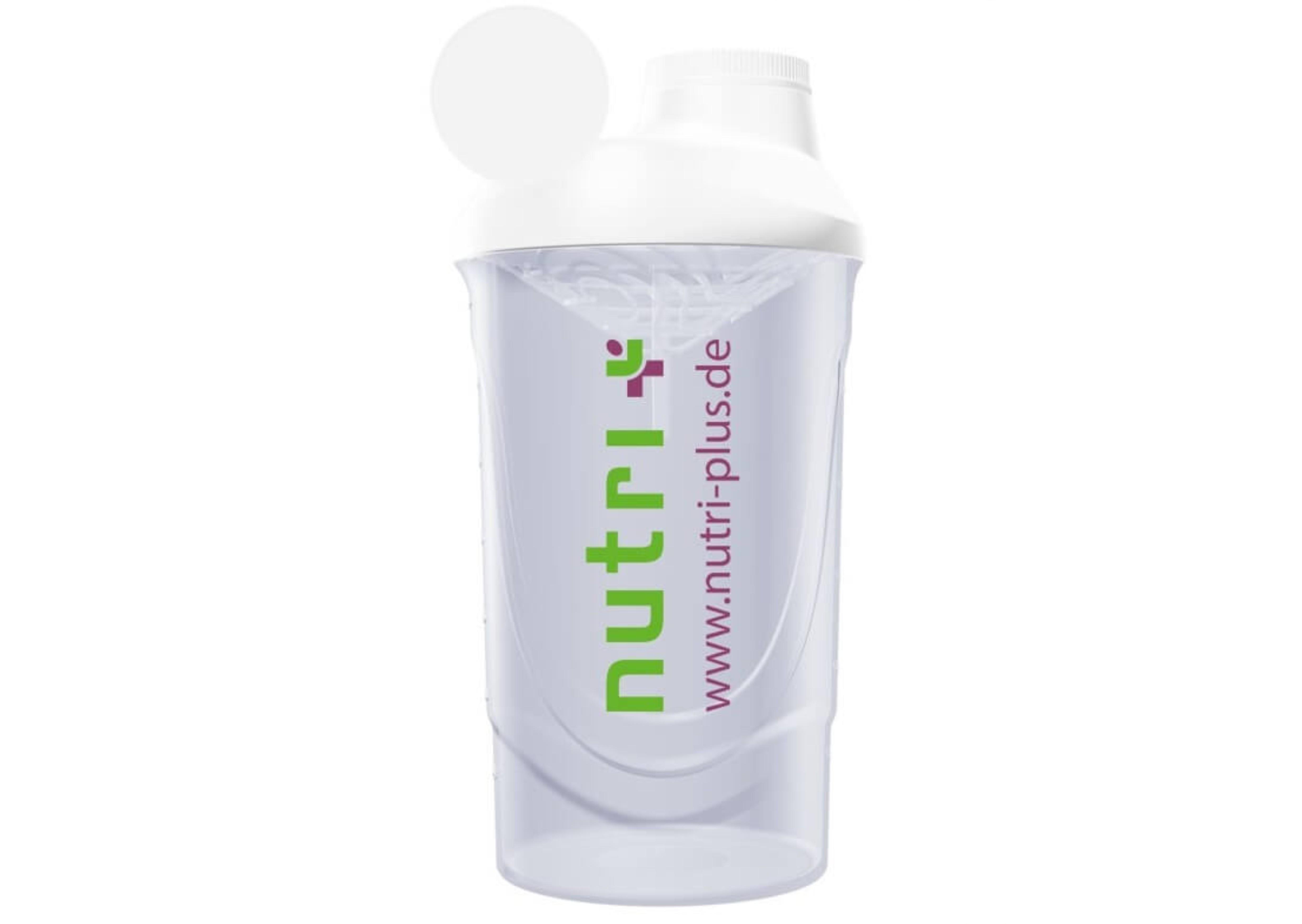 nutri+ Eiweiß + Fitness Shaker (transparent)